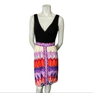 Phoebe Couture Rayon Bodice Silk Skirt Dress 12